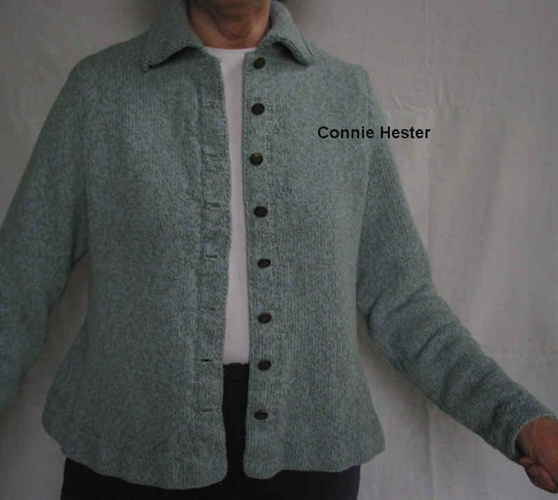 Hemmed Peplum Jacket Pattern with Double-Knit Collar