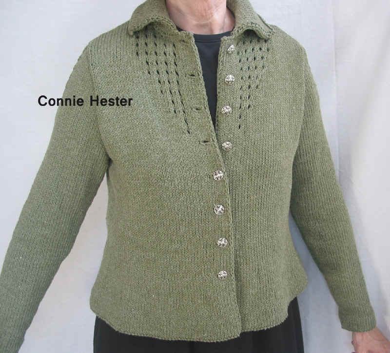 Jacket with eyelet tucks and double knit collar pattern jacket with eyelet tucks and double knit collar pattern by connie hester dt1010fo