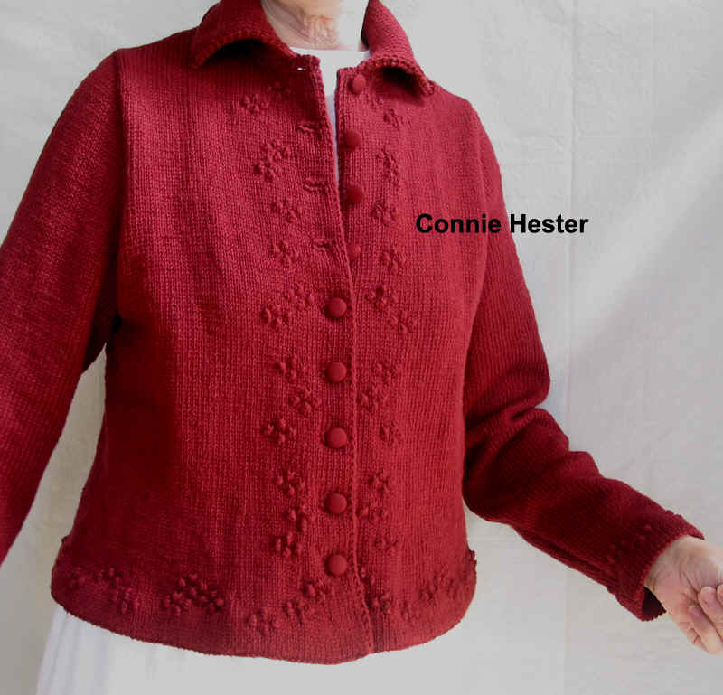 8f52e45fb6a3 Peplum Jacket Pattern with Border Trim and Double-Knit Collar by Connie  Hester