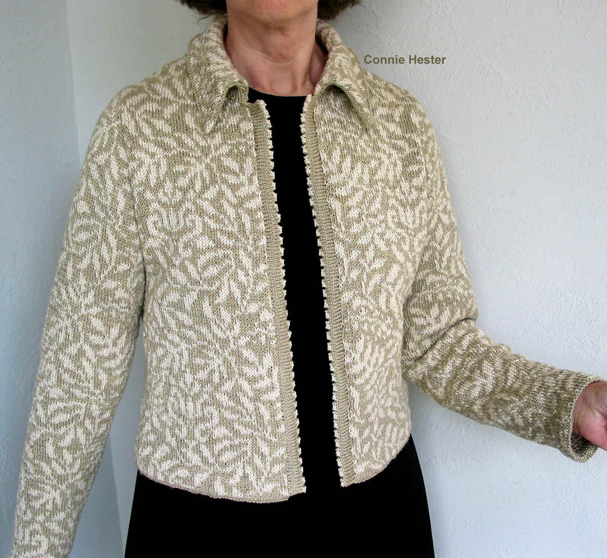 Knitted Jacket Pattern : Stranded Knit Jacket Pattern