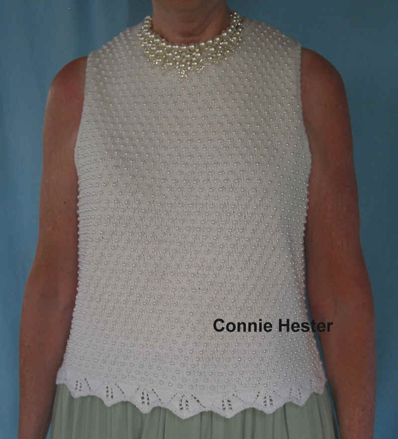 Beaded Knit Top Pattern With Beading Tutorial